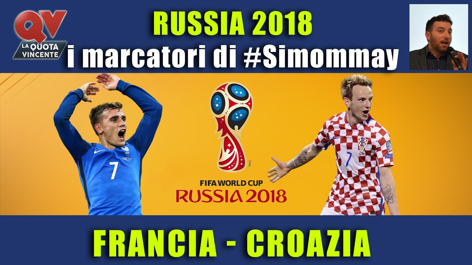 Pronostici marcatori Mondiali 15 luglio: i marcatori di #simommay