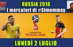 Pronostici marcatori Mondiali 2 luglio: i marcatori di #simommay