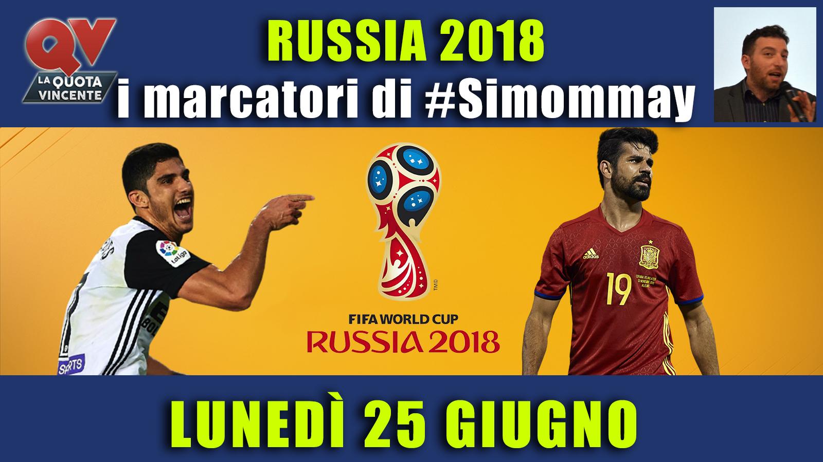 Pronostici marcatori Mondiali 25 giugno: i marcatori di #simommay