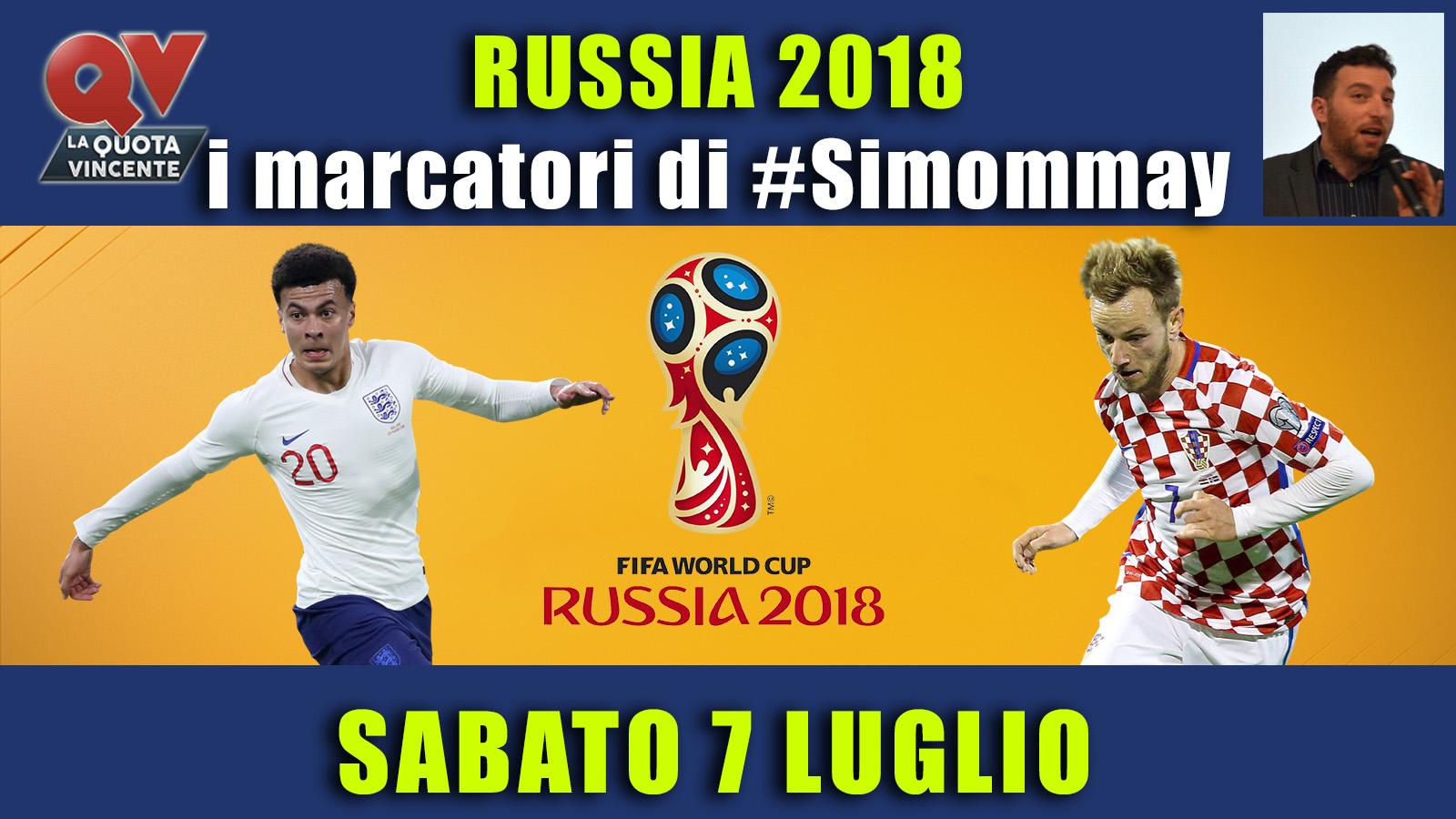 Pronostici marcatori Mondiali 7 luglio: i marcatori di #simommay