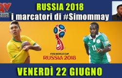 Pronostici marcatori Mondiali 22 giugno: i marcatori di #simommay