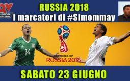Pronostici marcatori Mondiali 23 giugno: i marcatori di #simommay
