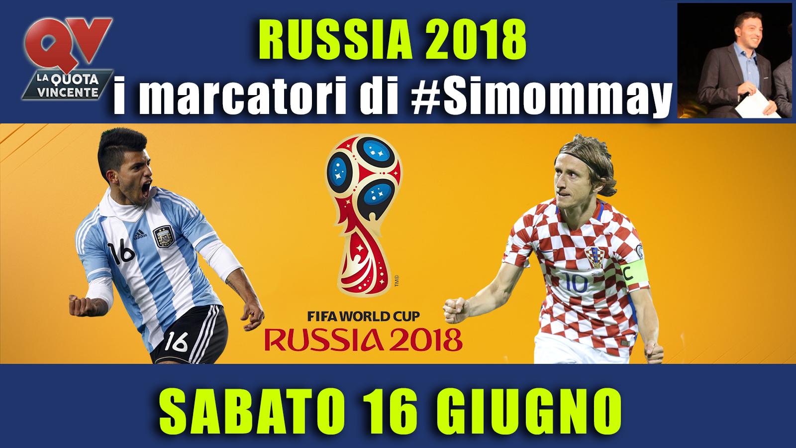 Pronostici marcatori Mondiali 16 giugno: i marcatori di #simommay