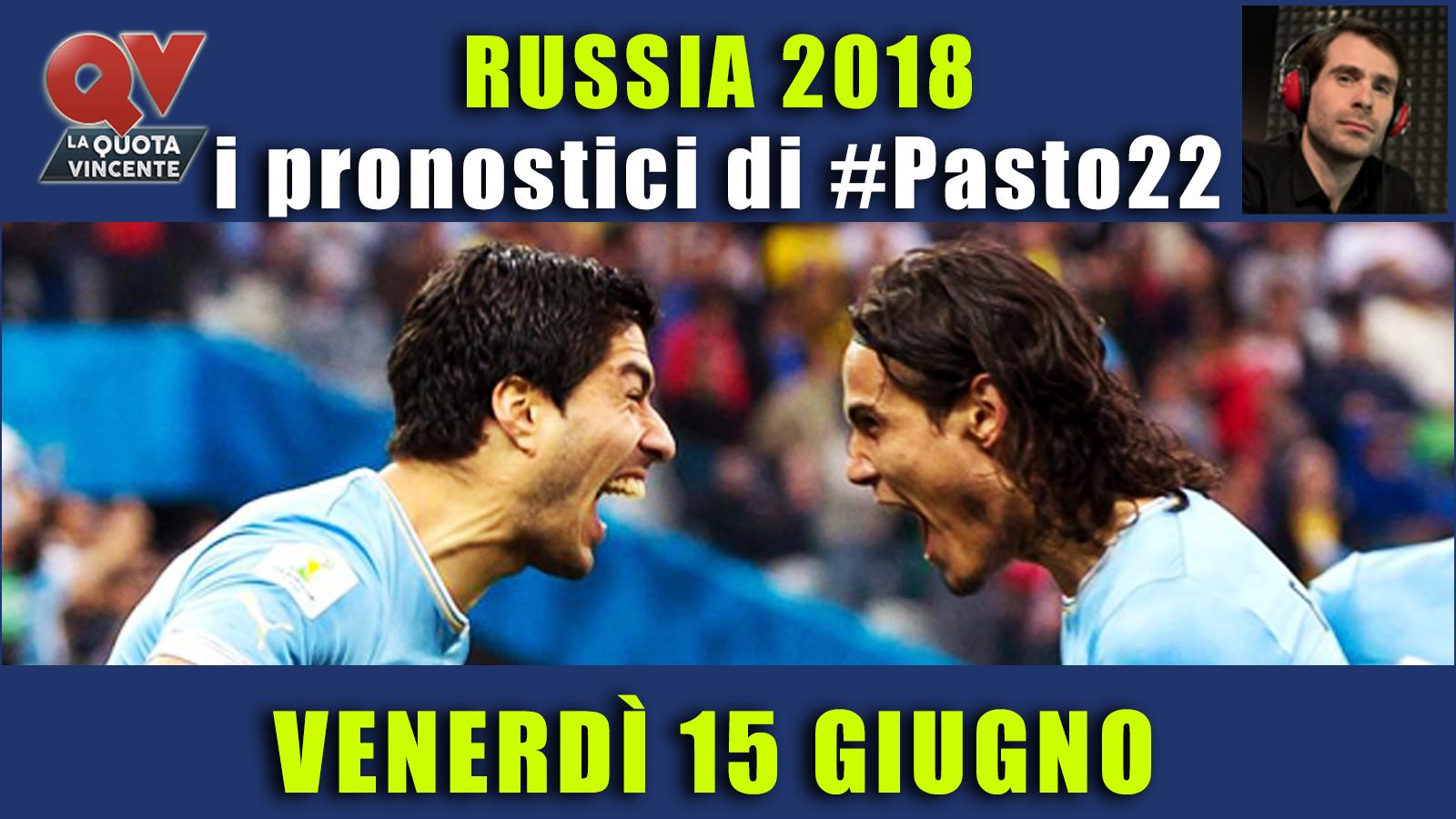 Pronostici Mondiali 15 giugno: le dritte di #Pasto22