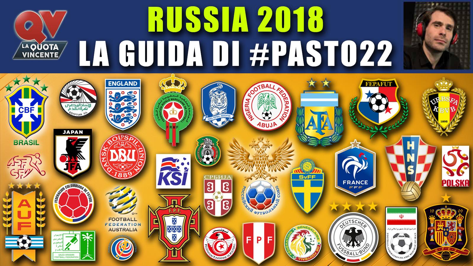 Russia 2018: la guida ai mondiali di #Pasto22, date, orari e favorite!