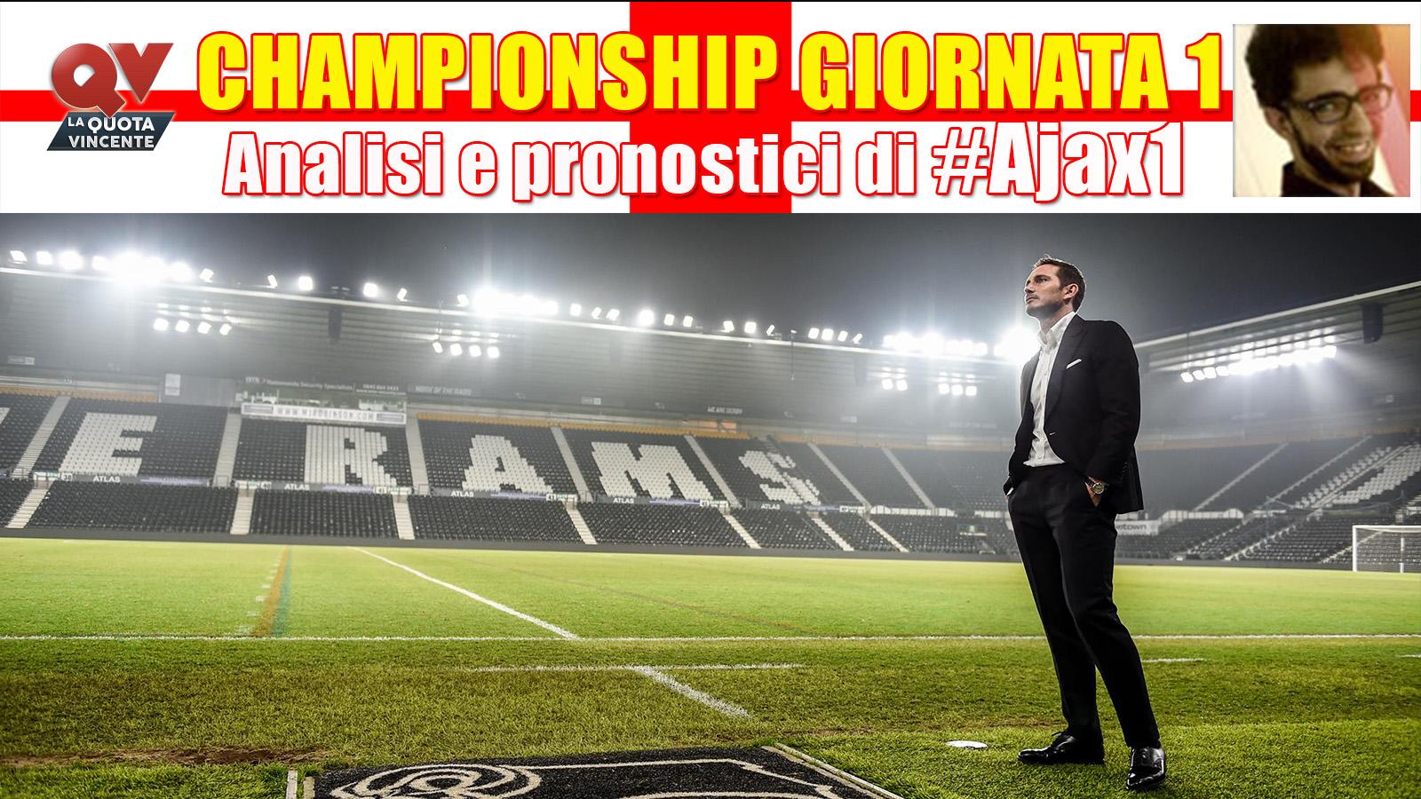 Championship Giornata 1