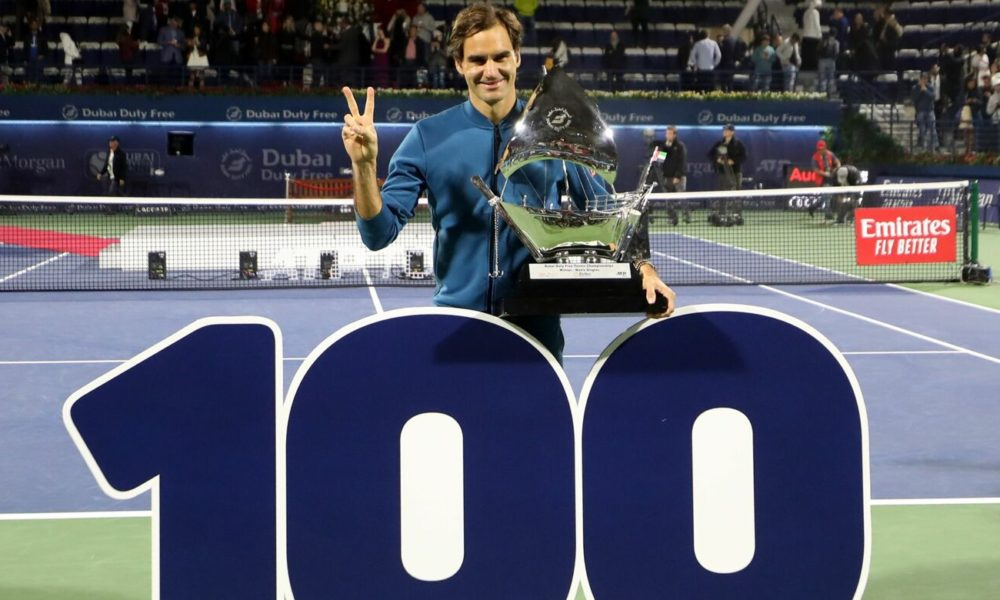 Tennis Federer 100