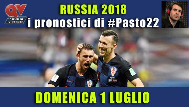 Pronostici Mondiali 1 luglio