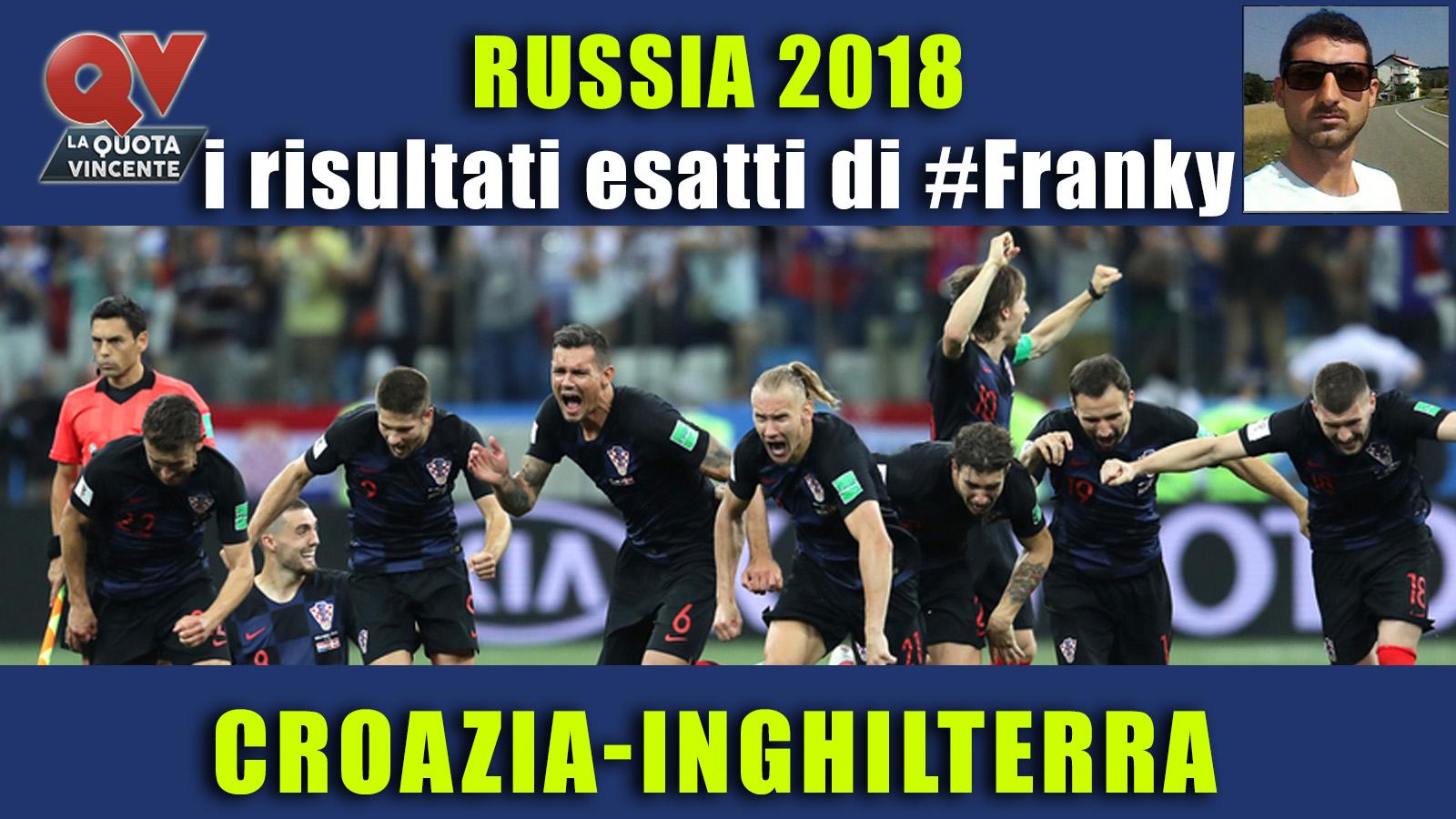 Pronostici risultati esatti Mondiali 11 luglio: le scelte di #FrankyDefa