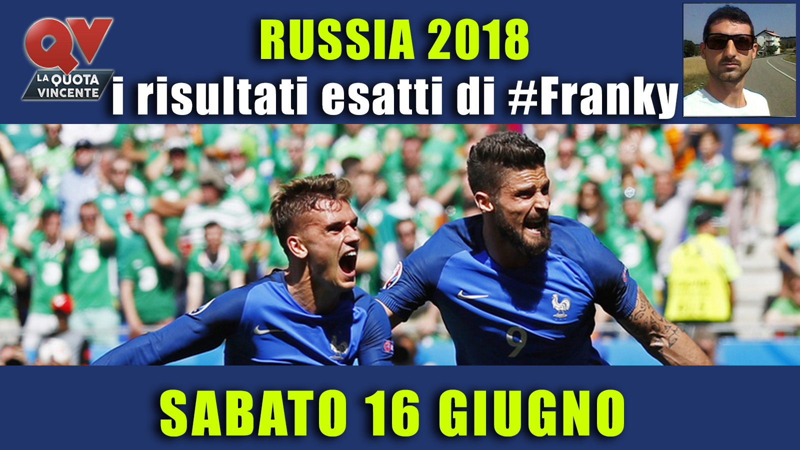 Pronostici risultati esatti Mondiali 16 giugno: le scelte di #FrankyDefa