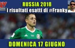 Pronostici risultati esatti Mondiali 17 giugno: le scelte di #FrankyDefa
