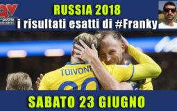 Pronostici risultati esatti Mondiali 23 giugno: le scelte di #FrankyDefa