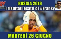Pronostici risultati esatti Mondiali 26 giugno
