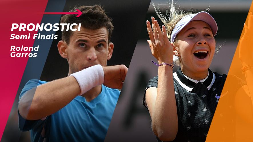 Tennis RG19 Semifinali
