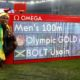 (160814) -- RIO DE JANEIRO, Aug. 14, 2016 (Xinhua) -- Usain Bolt of Jamaica celebrates after the final of men's 100m at the 2016 Rio Olympic Games in Rio de Janeiro, Brazil, on Aug. 14, 2016. Usain Bolt won the gold medal with 9.81. (Xinhua/Wang Lili)(dh)