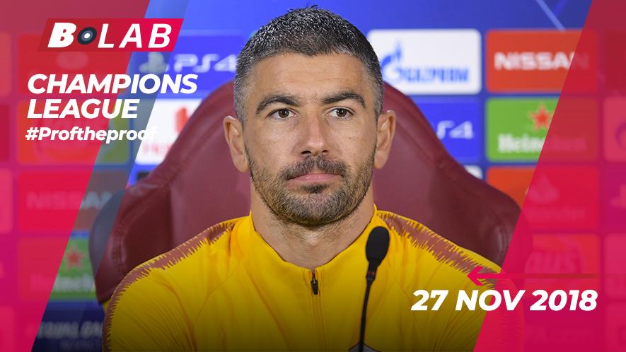 Champions League del 27 Novembre 2018