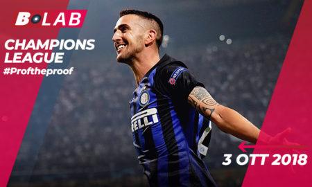Champions League del 3 Ottobre 2018