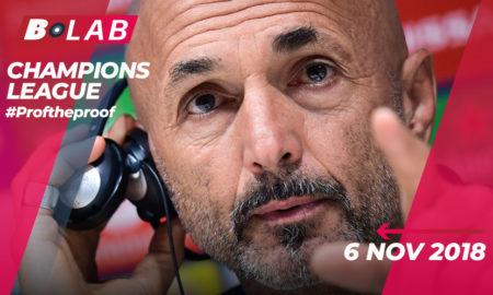 Champions League del 6 Novembre 2018