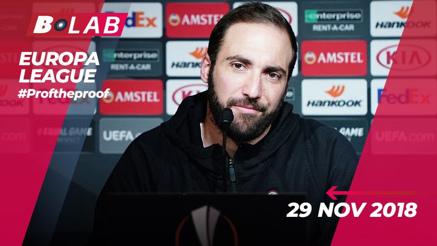 Europa League del 29 Novembre 2018
