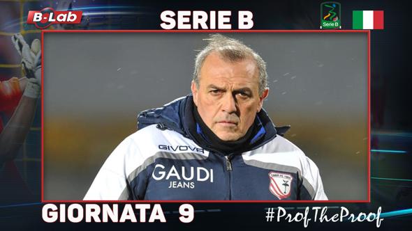 Serie B del Prof Pronostici e bolletta giornata 9