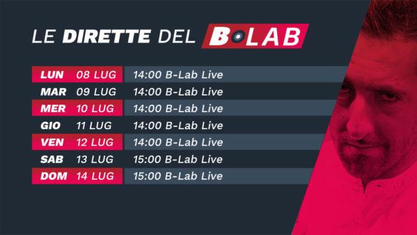 CALENDARIO SETTIMANALE B-LAB 8 LUG – 14 LUG 2019