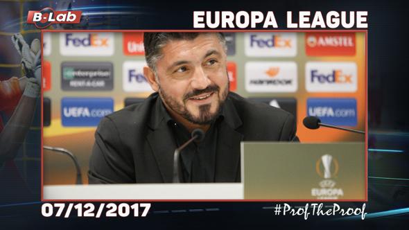 Europa League del 7 dicembre 2017