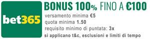 Comparazione Bonus nuovi clienti - bet365