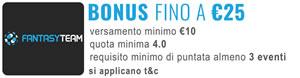 Comparazione Bonus nuovi clienti - fantasyteam