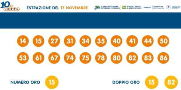 10 e lotto oggi 10 e lotto ogni 5 minuti estrazioni lotto oggi martedì 17 novembre 2020 verifica vincite