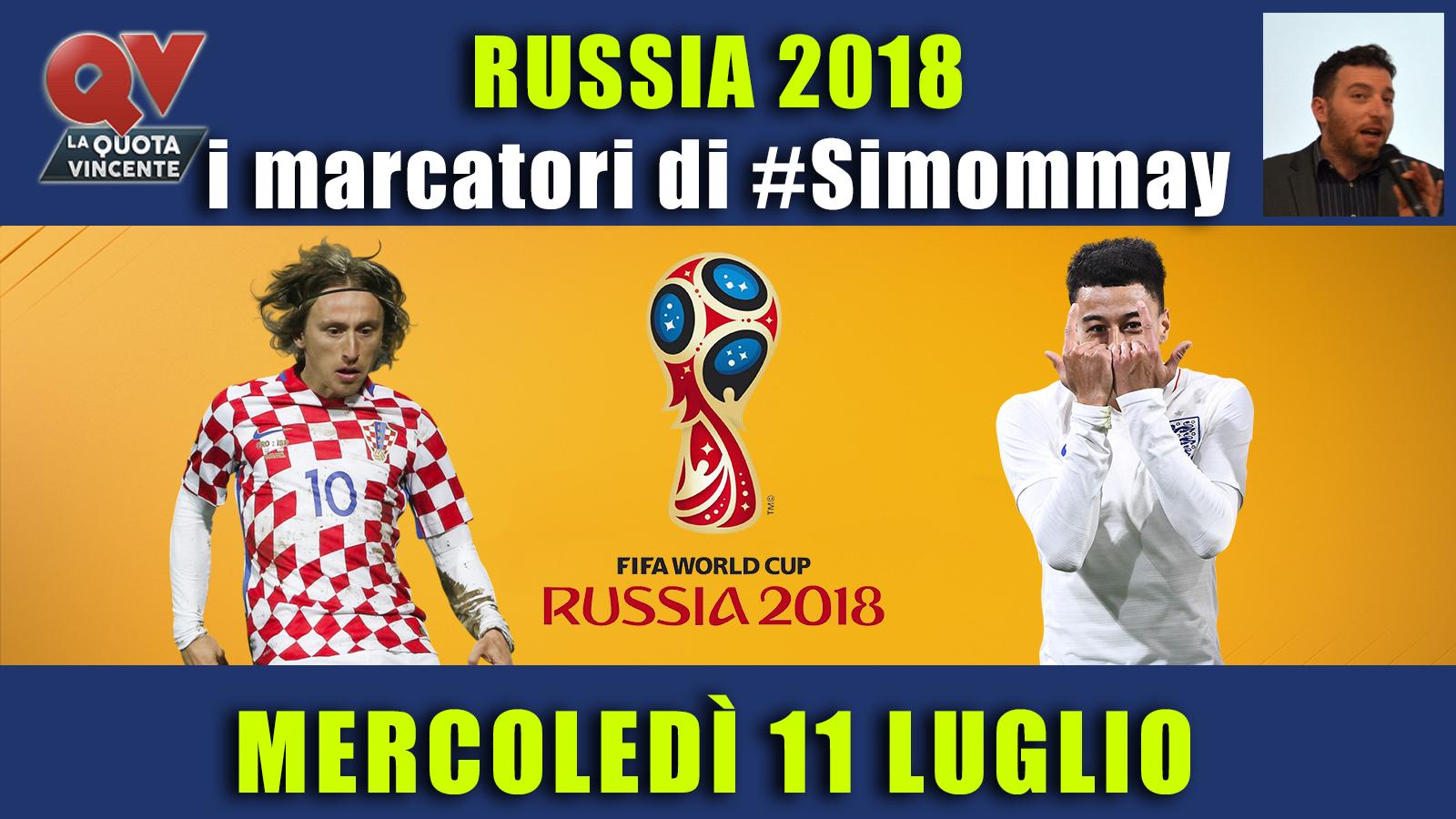 Pronostici marcatori Mondiali 11 luglio: i marcatori di #simommay