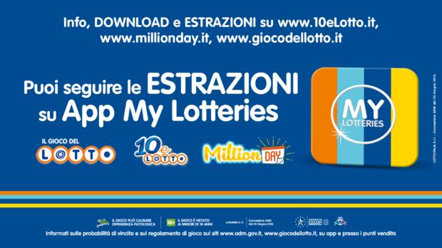 Estrazione Lotto Superenalotto Simbolotto 10eLotto di oggi app my lotteries app ufficiale scarica