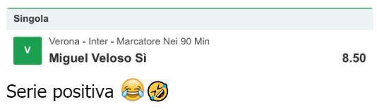 pronostici calcio oggi chat blab cassa blab live diretta streaming con Luca Pastorino Verona - Inter 2-2 Miguel Veloso Marcatore Si quota 8,50 9 luglio 2020