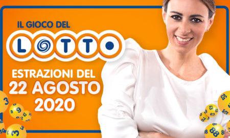 Estrazione Lotto 22 agosto 2020 speciale il Lotto in diretta sabato Super Enalotto 10 e lotto ogni 5 minuti Simbolotto MillionDay milionario numeri vincenti conduce Serena Garitta