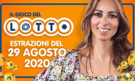 Estrazione lotto 29 agosto speciale sabato 2020 estrazioni del Lotto in diretta SuperEnalotto 10 e lotto ogni 5 minuti Simbolotto Million Day milionario conduce Serena Garitta