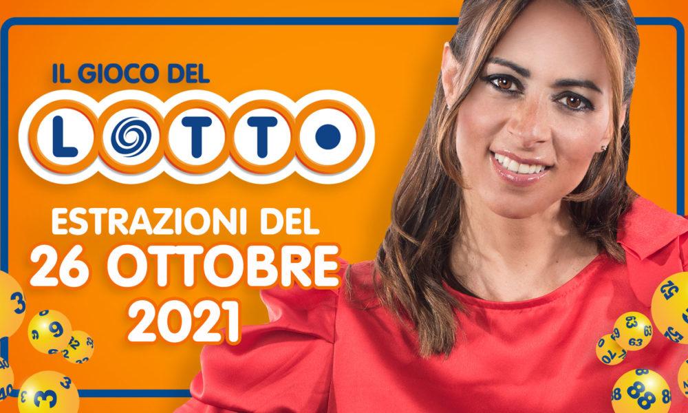 Estrazioni del Lotto Superenalotto 10 e lotto extra simbolotto millionday martedì 26 ottobre 2021 numeri vincenti verifica vincite