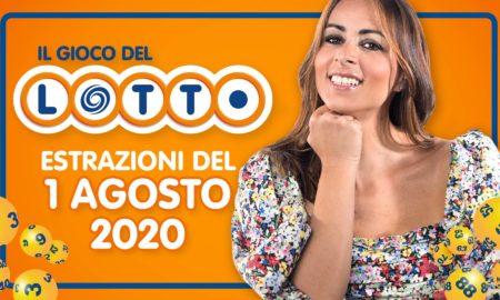 Estrazione Lotto 1 Agosto 2020 i numeri vincenti di sabato del lotto 10 e lotto ogni 5 SuperEnalotto Simbolotto e Million Day il gioco del Lotto in diretta conduce Serena Garitta