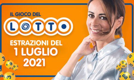 Estrazione lotto 1 luglio 2021 Lotto oggi estrazione vincente superenalotto oggi 10elotto serale simbolotto numeri vincenti ufficiali verifica vincite conduce Serena Garitta in diretta