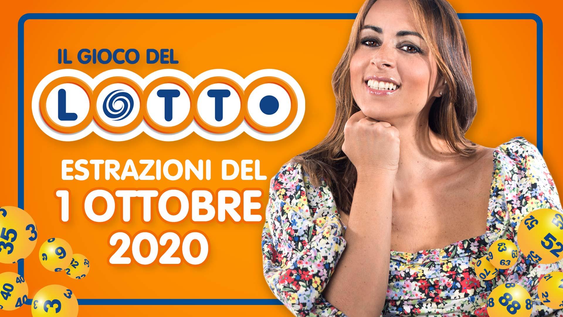 Estrazione lotto 1 ottobre 2020: 10 e Lotto SuperEnalotto e Simbolotto