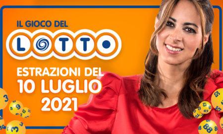 Estrazione lotto 10 luglio 2021 Lotto oggi estrazione vincente superenalotto oggi 10elotto serale simbolotto numeri vincenti ufficiali verifica vincite conduce Serena Garitta in diretta