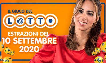 Estrazione Lotto 10 settembre 2020 estrazioni del Lotto in diretta di oggi giovedì 10 e Lotto ogni 5 minuti extra SuperEnalotto Simbolotto Milionday Milionario Lottomatica conduce Serena Garitta