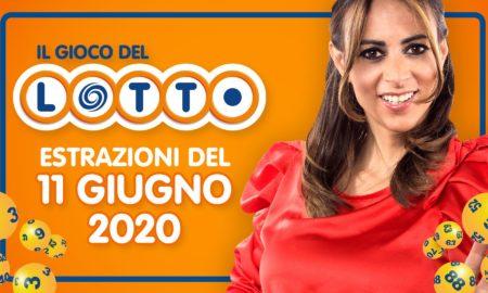 estrazione lotto 11 giugno 2020 10 e lotto superenalotto simbolotto numeri vincenti in diretta con serena garitta