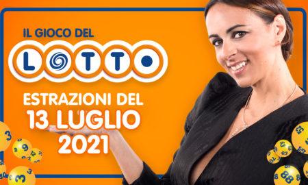 Estrazione lotto 13 luglio 2021 Lotto oggi estrazione vincente superenalotto oggi 10elotto serale simbolotto numeri vincenti ufficiali verifica vincite conduce Serena Garitta in diretta