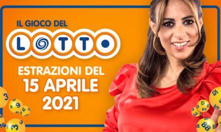 Estrazione lotto 15 aprile 2021 Lotto oggi estrazione vincente superenalotto oggi 10elotto serale simbolotto numeri vincenti ufficiali verifica vincite giovedì conduce Serera Garitta