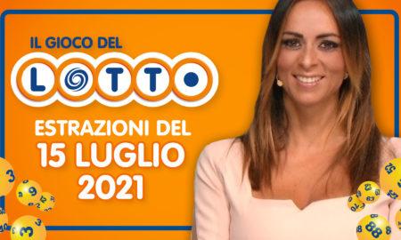 Estrazione lotto 15 luglio 2021 Lotto oggi giovedì estrazione vincente superenalotto oggi 10elotto serale simbolotto numeri vincenti ufficiali verifica vincite conduce Serena Garitta in diretta