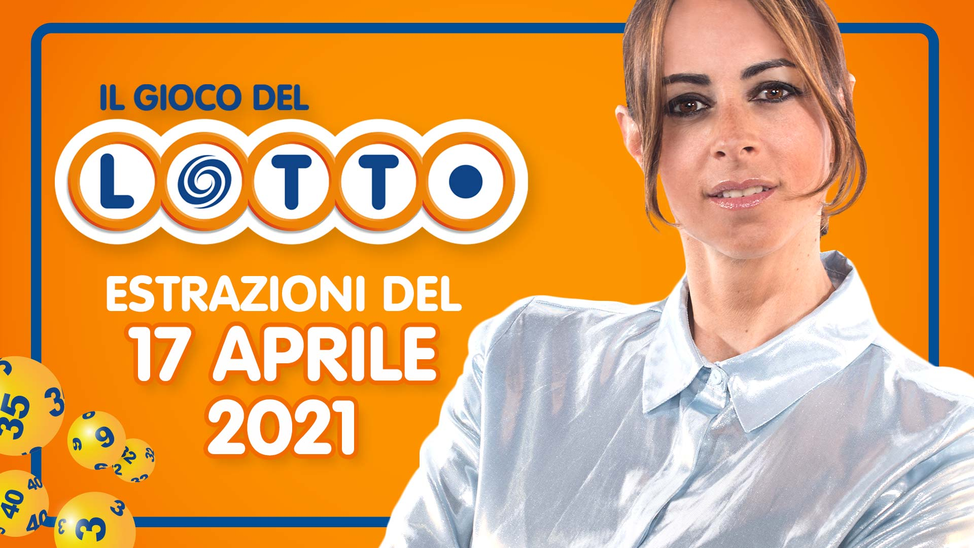 Estrazione lotto 17 aprile 2021 Lotto oggi estrazione vincente superenalotto oggi 10elotto serale simbolotto numeri vincenti ufficiali verifica vincite giovedì conduce Serena Garitta