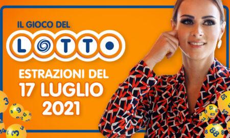 Estrazione lotto 17 luglio 2021 Lotto oggi sabato estrazione vincente superenalotto oggi 10elotto serale simbolotto numeri vincenti ufficiali verifica vincite conduce Serena Garitta in diretta