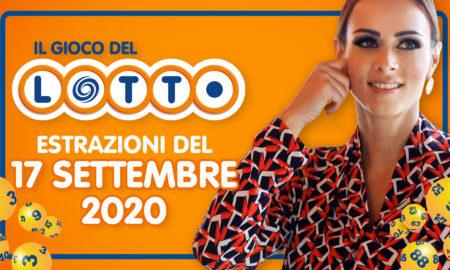 Estrazione lotto 17 settembre oggi giovedì 2020 Estrazioni del Lotto in diretta 10 e lotto ogni 5 minuti EXTRA SuperEnalotto Sisal Jackpot quote Lottomatica MillionDay Simbolotto milionario conduce Serena Garitta