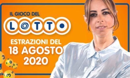 Estrazione Lotto 18 Agosto martedì 2020 Estrazioni del Lotto in diretta 10 e lotto ogni 5 minuti SuperEnalotto Simbolotto Million Day conduce Serena Garitta