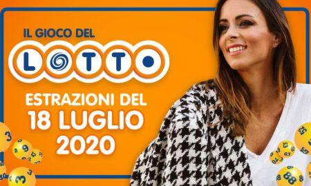 Estrazione lotto 18 luglio oggi sabato 2020 estrazione 10 e lotto ogni 5 superenalotto millionday simbolotto numeri vincenti lotto in diretta conduce Serena Garitta