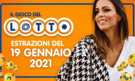Estrazione lotto 19 Gennaio 2021: Superenalotto 10eLotto Simbolotto in diretta